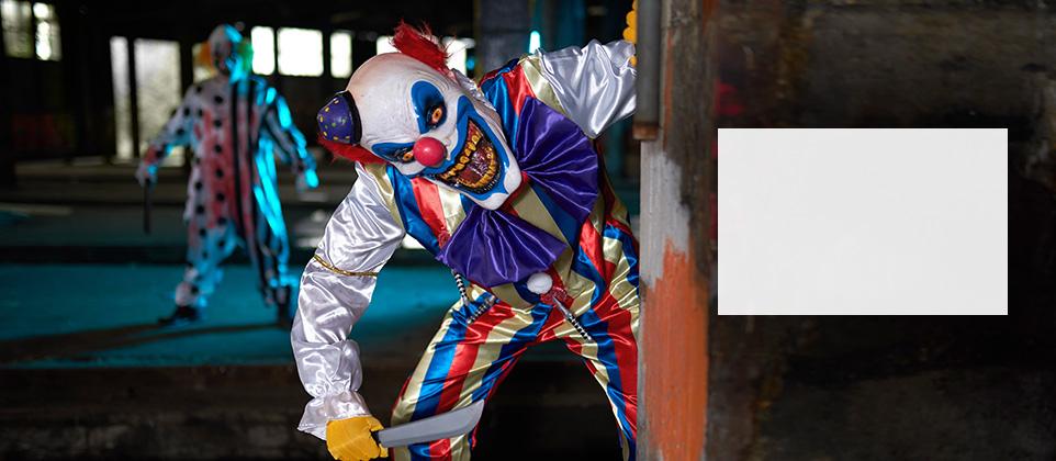 Halloween clown kostuums